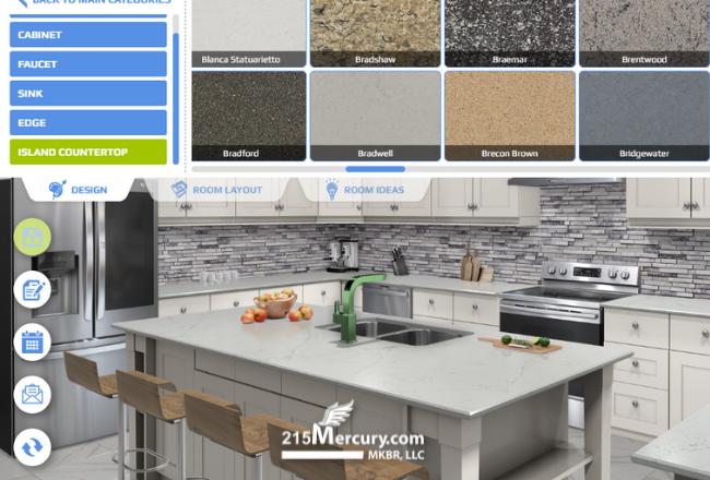 215mercury Kitchen Visualizer Countertop